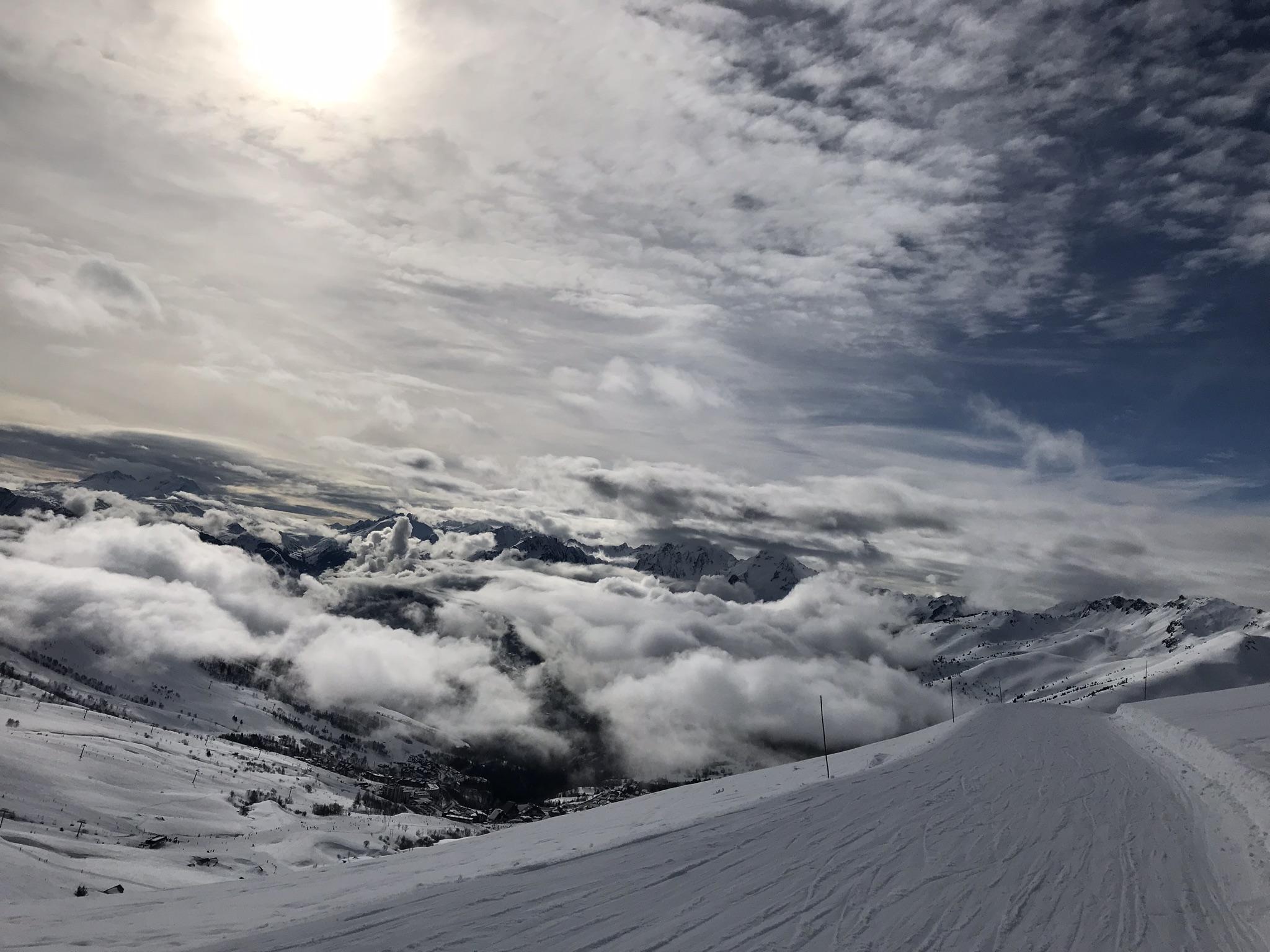 Ski-vakantie-lucht